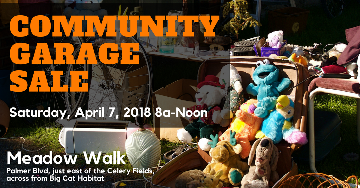 Annual Meadow Walk Community Garage Sale: Sat, April 7th, 8am-Noon