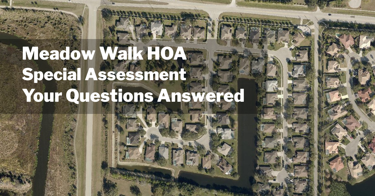 Special Assessment: Your Questions Answered
